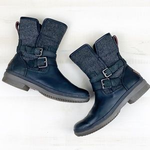 Uggs Simmens Waterproof Leather Moto Boot